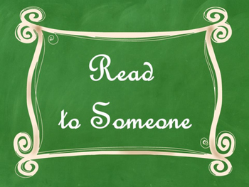 Daily 5 Bulletin Board Signs/Posters (Green Chalkboard/Curly Frames Theme)