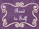 Daily 5 Bulletin Board Signs/Posters (Purple Chalkboard/Curly Frames Theme)