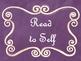 Daily 5 Bulletin Board Signs/Posters (Purple Chalkboard/Cu