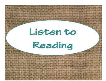 Daily 5 Bulletin Board Signs/Posters (Burlap and Turquoise Theme)