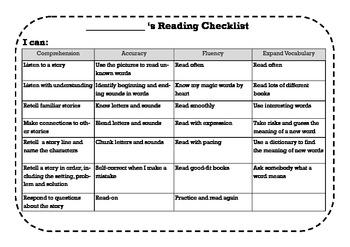 Daily 5 CAFE Assessment Portfolio