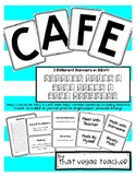 Daily 5 - CAFE - Math Daily 3 - Math Workshop - Bulletin Board Kit - B & W