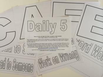 Daily 5 & CAFE Menu Simple Headers