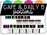 Daily 5 & CAFE Neon Posters.