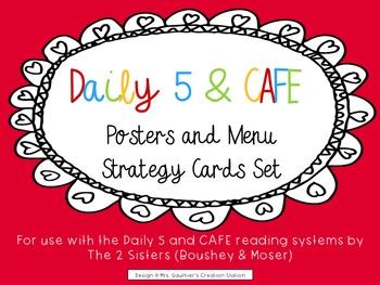Daily 5 & CAFE Poster Set - FREEBIE