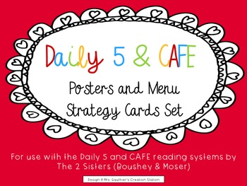 Daily 5 & CAFE Poster Set - FREEBIE