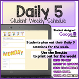 Daily 5 CAFE Reading   Weekly Schedule Log   Google Form