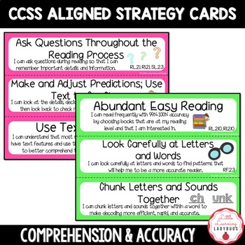 "Common Core Aligned Reading Strategies with ""I Can"" Statements {2nd Grade CCSS}"