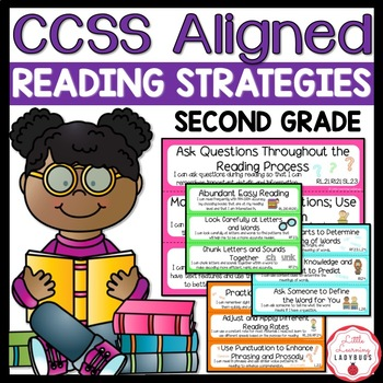"""Common Core Aligned Reading Strategies with """"I Can"""" Statem"""