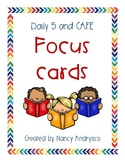 Daily 5 & CAFE Student Focus Reference Cards