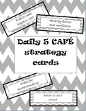 Daily 5 CAFE strategy cards