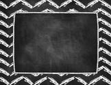 Chalkboard Chevron Theme