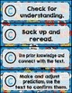 Daily 5 Cafe Menu and Strategy Cards Superhero Theme