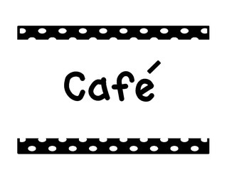 Daily 5 Cafe Menu headings