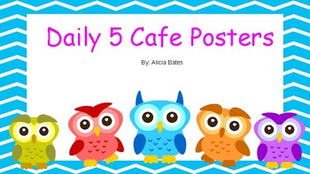 Daily 5 Cafe Owl Posters