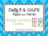 Daily 5 & Cafe Posters (Free) {Bright Chevron Theme}