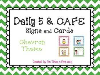 Daily 5 & Cafe Posters (Free) {Chevron Theme}