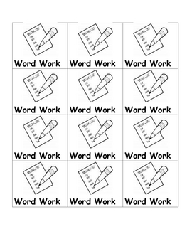 Daily 5 Cards for Reading and Word Work