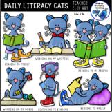 Daily Literacy Cats Clip Art