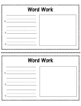 Daily 5 Center Journal Workbook