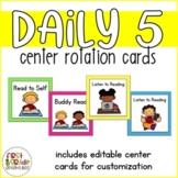 Daily 5 Center Rotation Cards