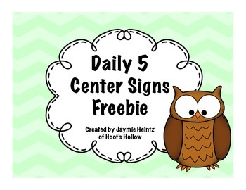 Daily 5 Center Signs {Freebie}