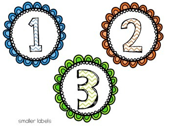 Daily 5/ Centers Bright Labels Pack