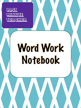 Daily 5 Centres - Word Work Notebook