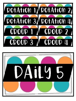 Daily 5 Chart (Includes Meet with the Teacher!)