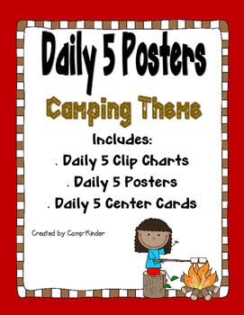Daily 5 Charts-Camping Theme