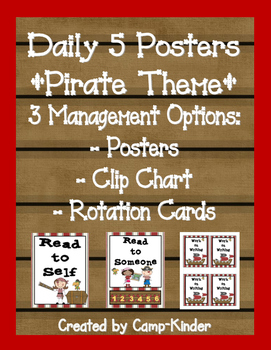 Daily 5 Charts-Pirate Theme