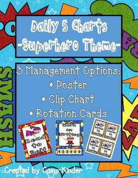 Daily 5 Charts-Superhero Theme