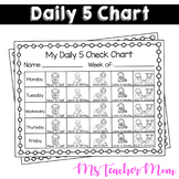 Daily 5 Check Chart