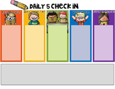 Daily 5 Check In {Editable!}