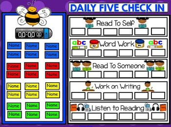 Daily 5 Check In For Smartboard Freebie - Insect Theme for May