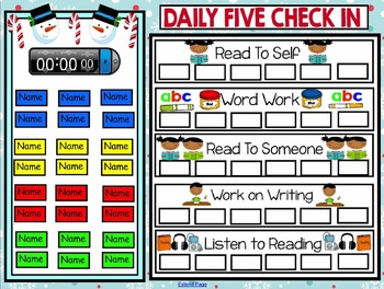 Daily 5 Check In Freebie Smartboard - Christmas Theme