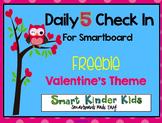 Daily 5 Check In Freebie Smartboard - Valentine Theme