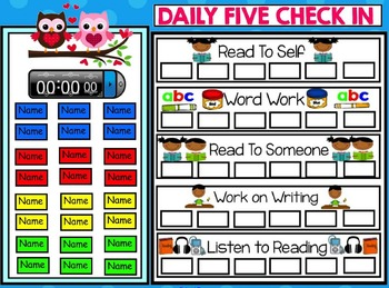 Daily 5 Check In Freebie Smartboard - Valentine Theme