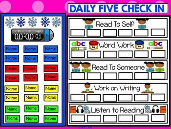Daily 5 Check In Freebie Smartboard - Winter Theme