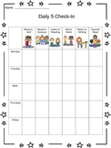 Daily 5 Check-In Sheet