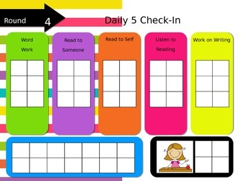 Daily 5 Check in Rotation Powerpoint