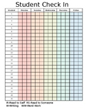 Check-in Sheet {Editable}