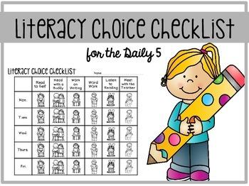 Daily 5 Checklist FREEBIE