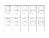 Daily 5 Checklist - Blank