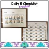 Daily 5 Checklist Freebie!