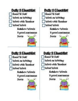 Daily 5 Checklist for desk