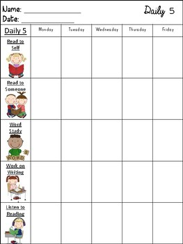 Daily 5 Checklists