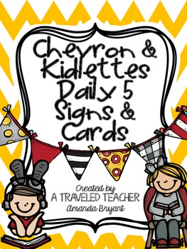 Daily 5 Chevron & Kidlettes Signs & Cards
