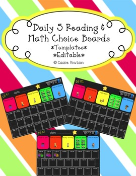 Daily 5 Choice Boards