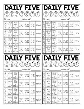 Daily 5 Choice Card